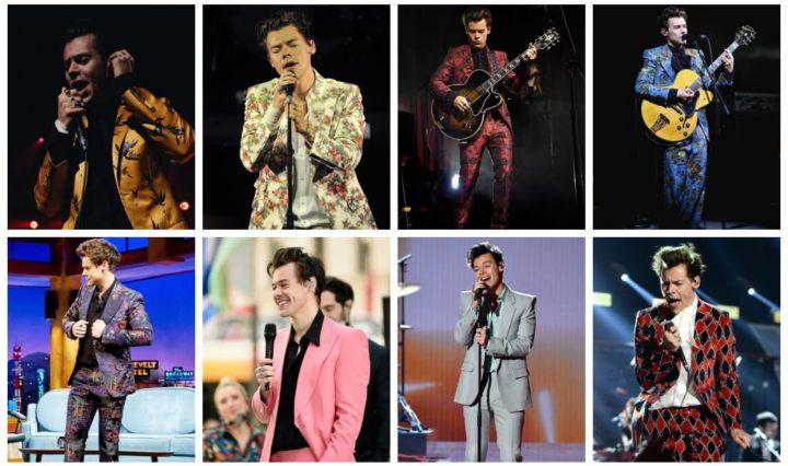 Harry Styles em seus ternos